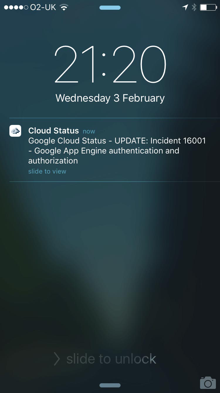Cloud Status Notifications